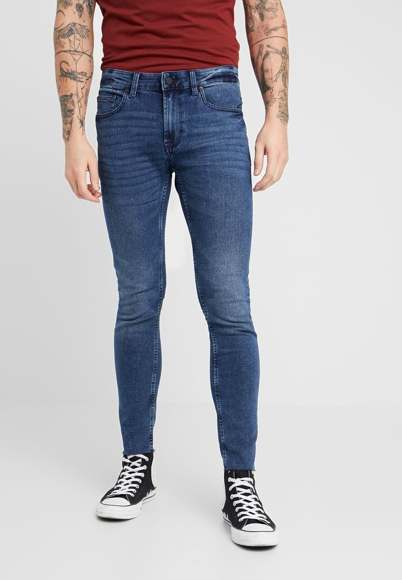 Only & Sons - ONSWARP SKINNY BLUE CROP - Jeans Skinny Fit - blue denim