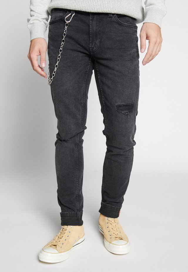 ONSWARP SKINNY BLACK CHAIN - Skinny-Farkut - black denim