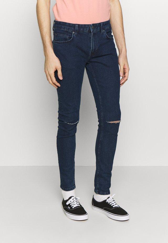 ONSWARP SKINNY KNEE CUT - Jeans Skinny Fit - blue denim