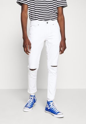 ONSWARP CROP KNEE CUT - Džíny Slim Fit - white denim