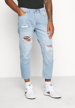 ONSAVI BEAM TAP CROP  - Jeans baggy - blue denim