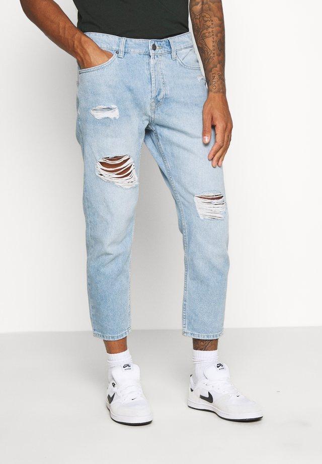 ONSAVI BEAM TAP CROP  - Jeans baggy - blue denim