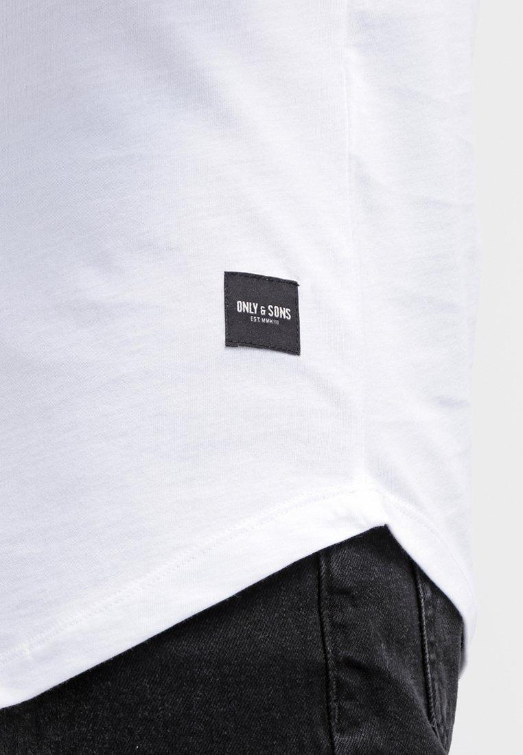 Only & Sons ONSMATT LONGY TEE - T-shirt basic - white