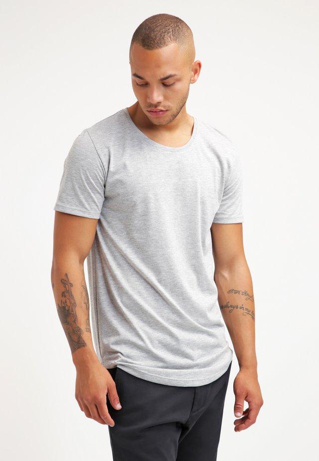 ONSMATT LONGY TEE - Basic T-shirt - light grey melange