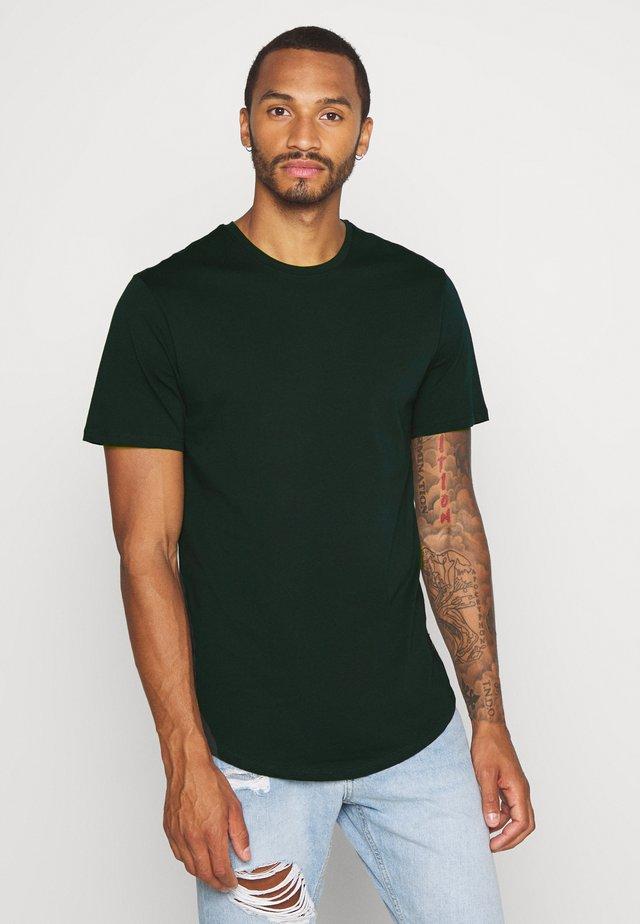 ONSMATT LONGY TEE - T-shirt basic - scarab