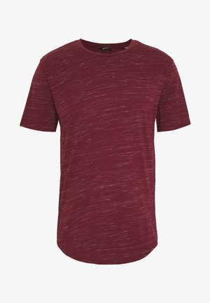 ONSMATTY LONGY TEE - Triko s potiskem - dark red