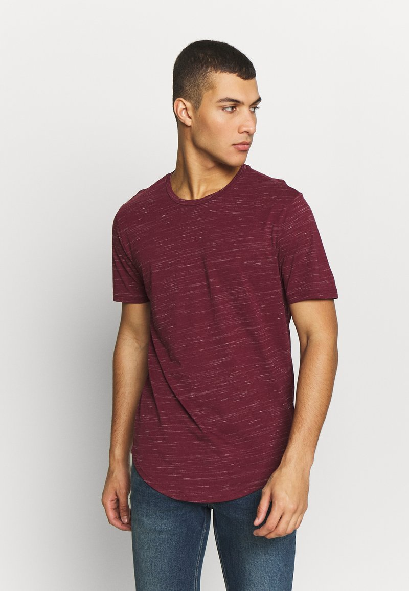 Only & Sons - ONSMATTY LONGY TEE - Triko s potiskem - dark red