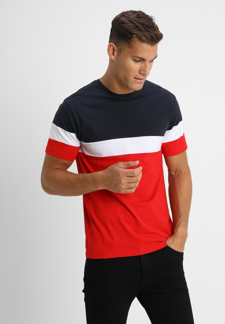 Only & Sons - ONSBAILEY  - T-shirt print - dark navy/racing red