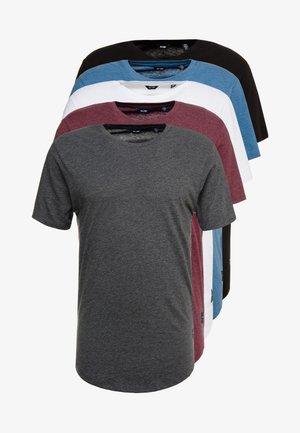 ONSMATT  5-PACK - T-shirt basic - white/dark/blue/ melange/cab