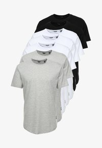 Only & Sons - ONSMATT LONGY 7 PACK - T-shirt basic - white/black/light grey melange - 5