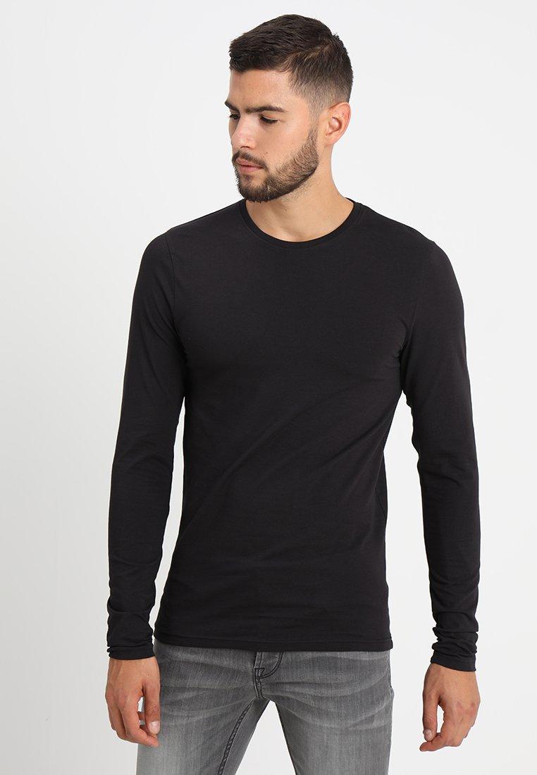 Only & Sons - ONSBASIC SLIM TEE - Bluzka z długim rękawem - black