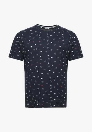 B&TONSGENE TEE - Printtipaita - blue nights