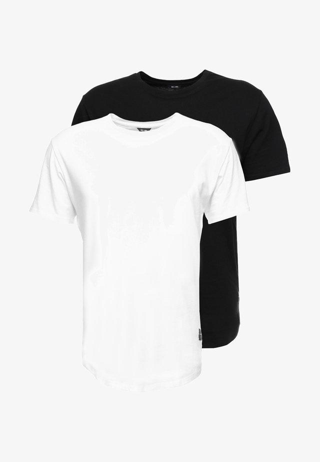 ONSMATT LONGY 2 PACK - Basic T-shirt - black/white