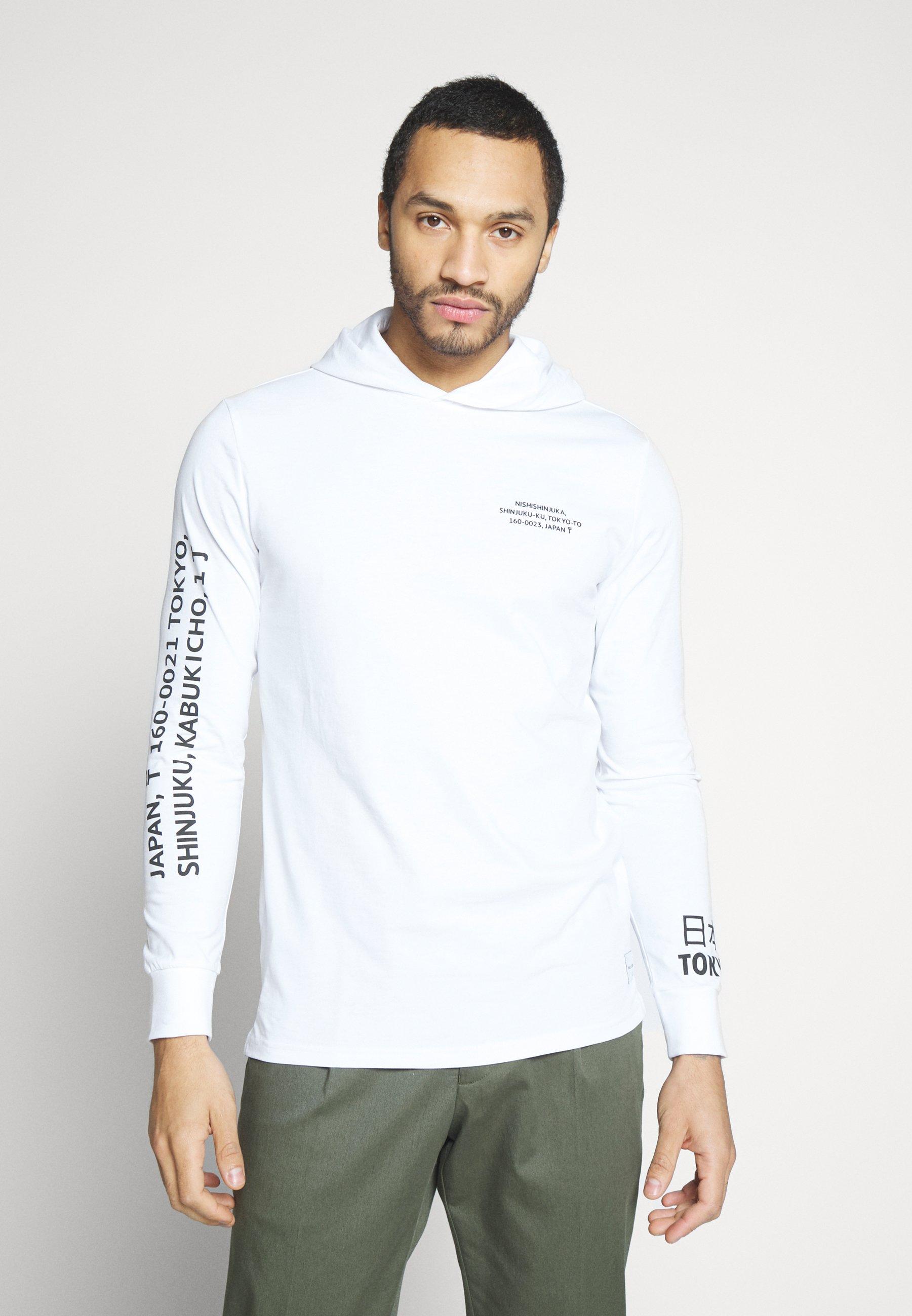 Only & Sons ONSWF DEAN TEE HOODIE - Bluza z kapturem - white