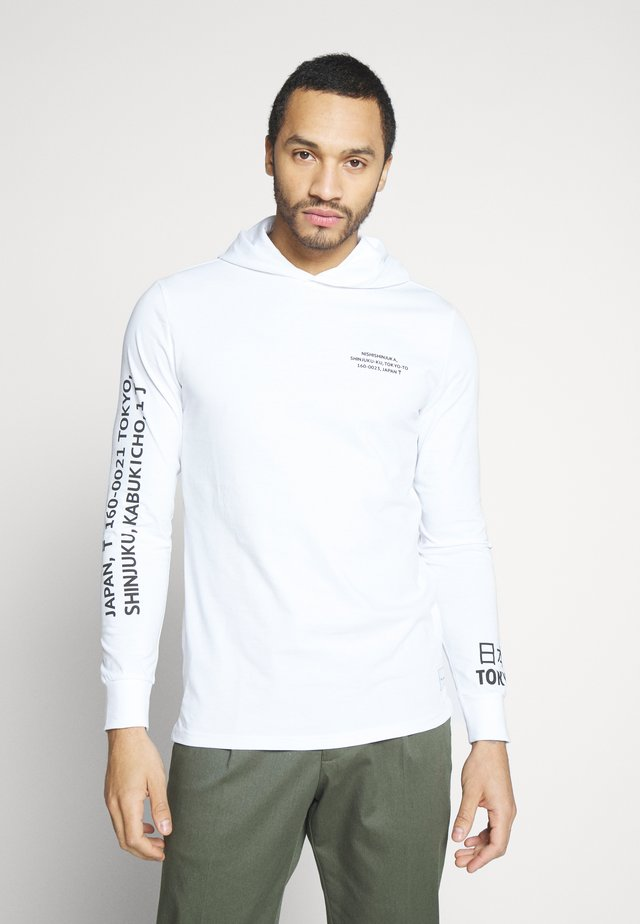 ONSWF DEAN TEE HOODIE  - Mikina s kapucí - white
