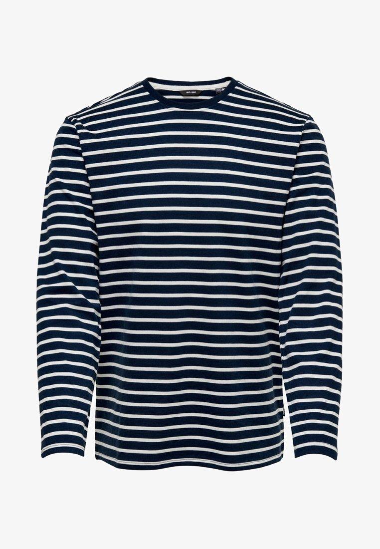 Only & Sons - Langærmede T-shirts - dress blues