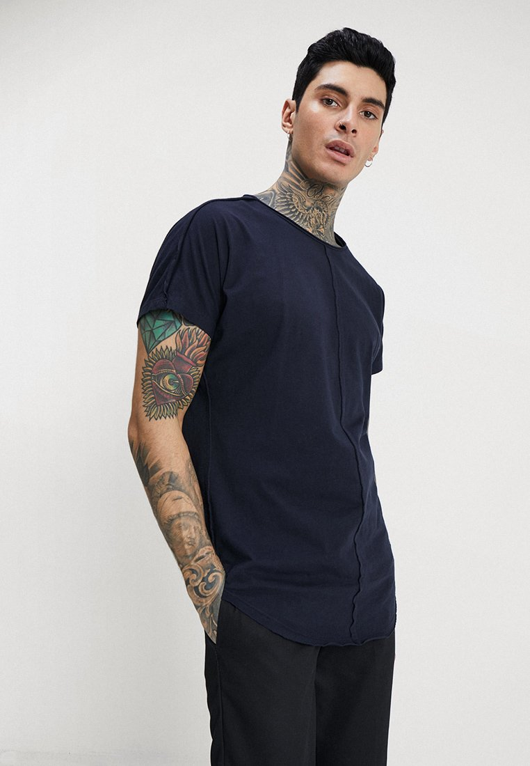 Only & Sons - ONSEARL RAW LONGY  - T-shirt basic - dark navy