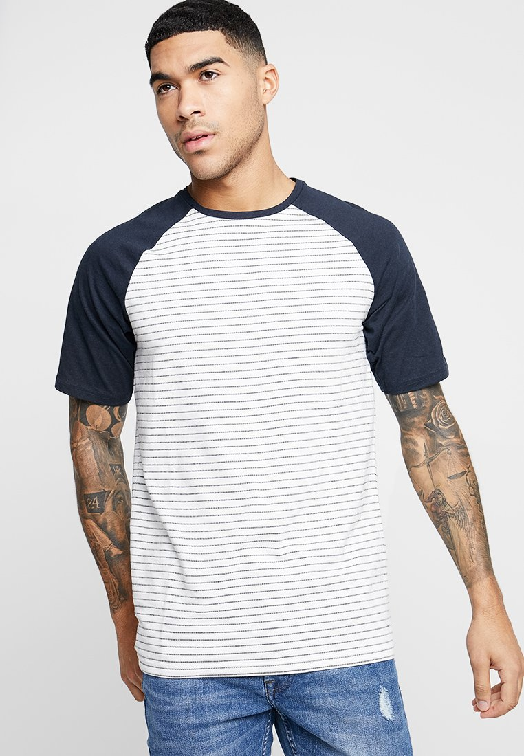 Only & Sons - ONSELIAS JAQUARD REGULAR TEE - T-Shirt print - cloud dancer/navy
