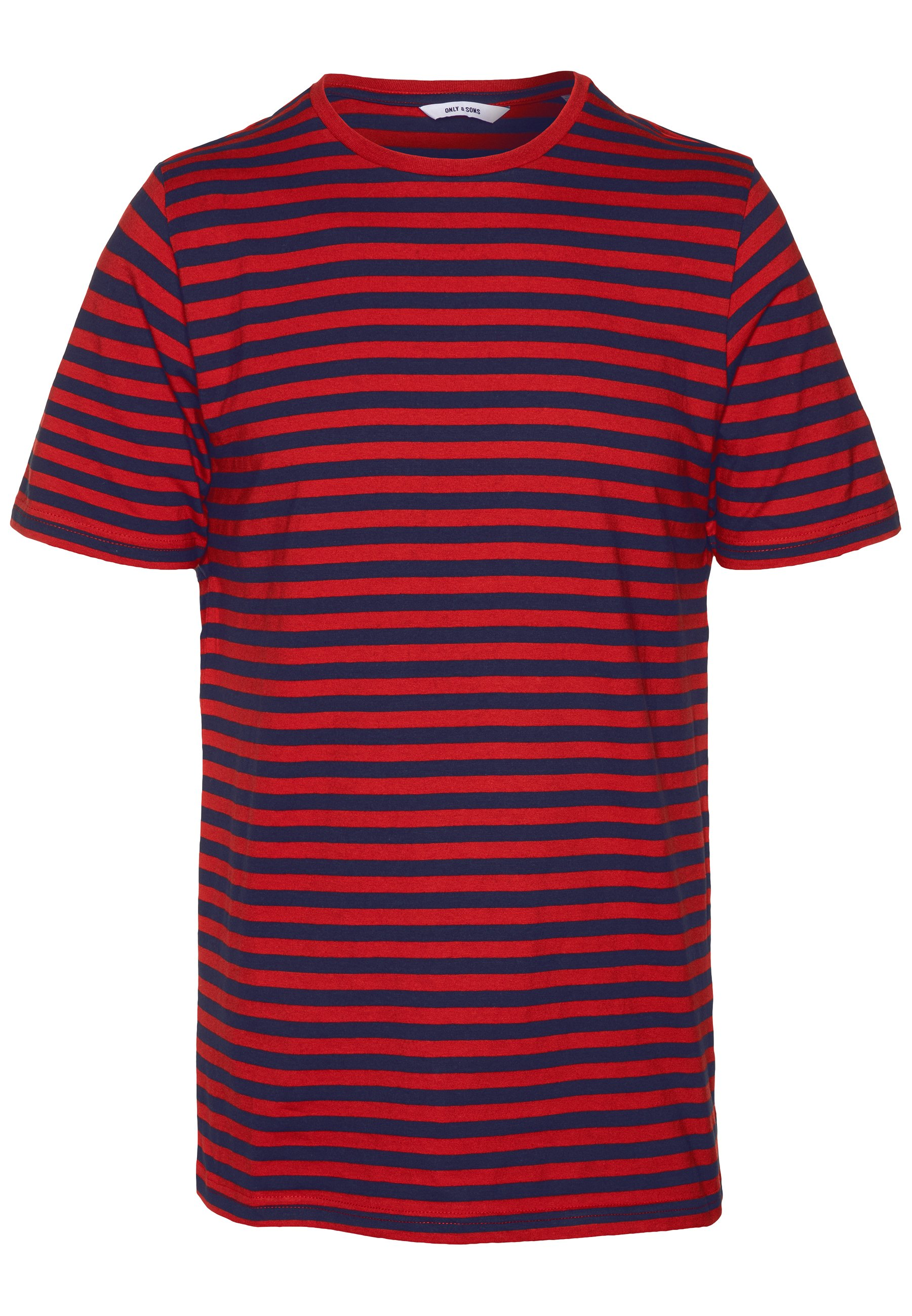 Only & Sons Onsjamie Life Ss Stripe Reg Tee Noo - Print T-shirt Dark Navy/pompeian Red