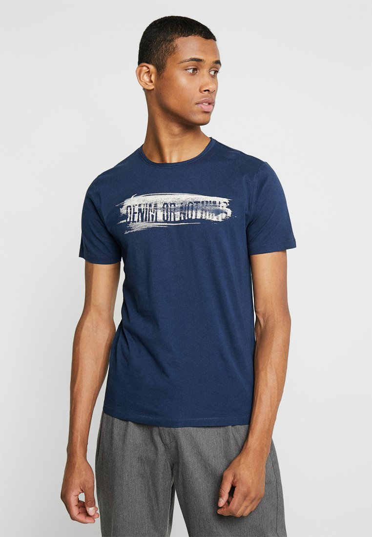 Only & Sons - ONSALBERT FITTED TEE - T-Shirt print - blue
