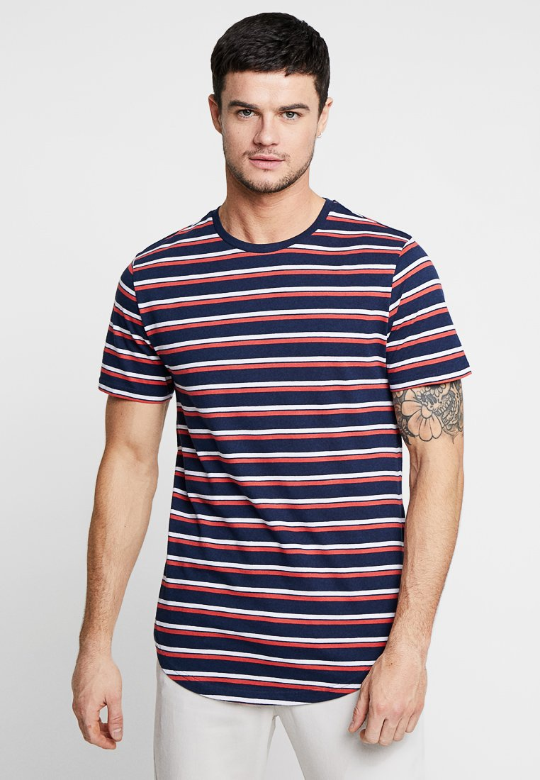 Only & Sons - ONSPALATINE LONGY TEE - Print T-shirt - dress blues