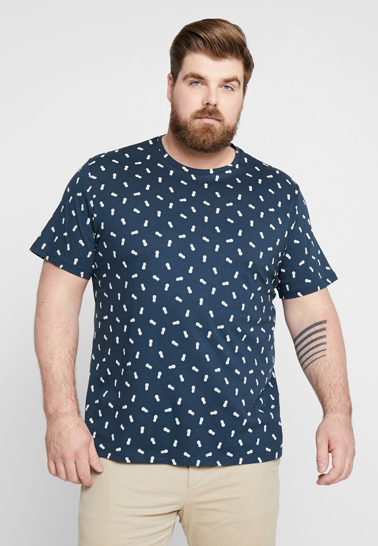 Only & Sons - ONSPINEAPPLE  DITSY FITTED TEE  - Print T-shirt - dress blues