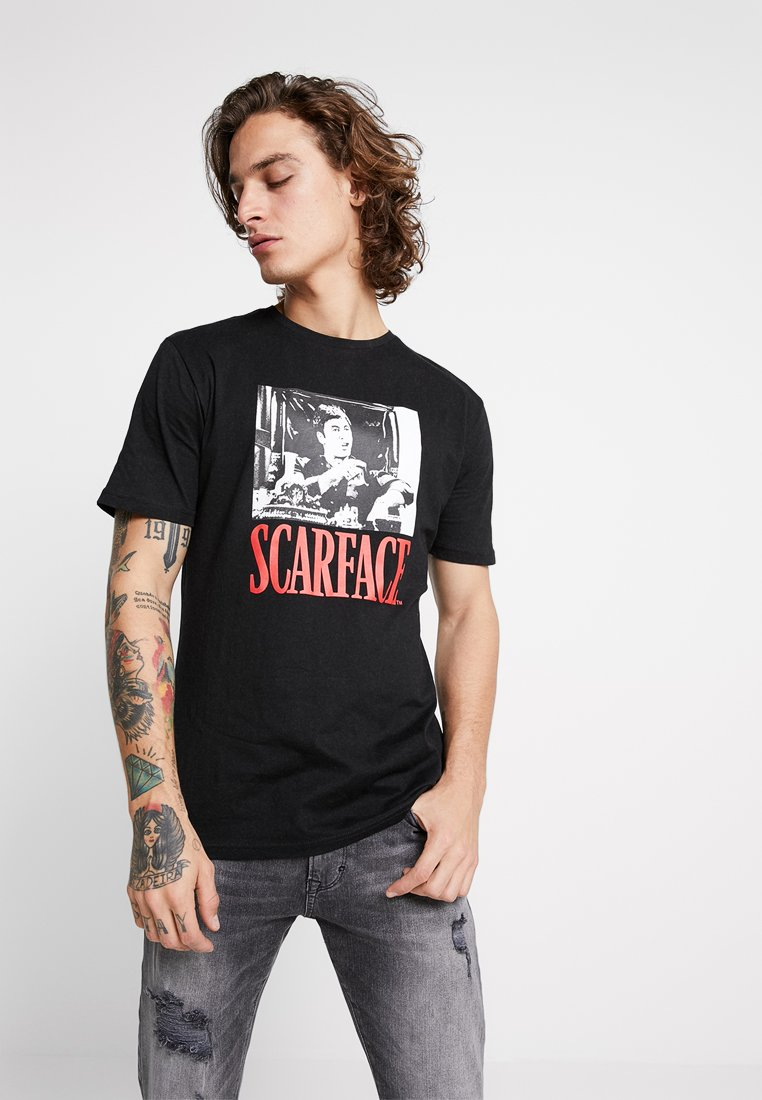 Only & Sons - ONSSCARFACE - Print T-shirt - black