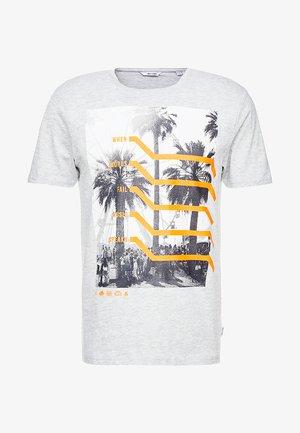 ONSPETAL FITTED TEE CAMP - T-shirt z nadrukiem - light grey melange