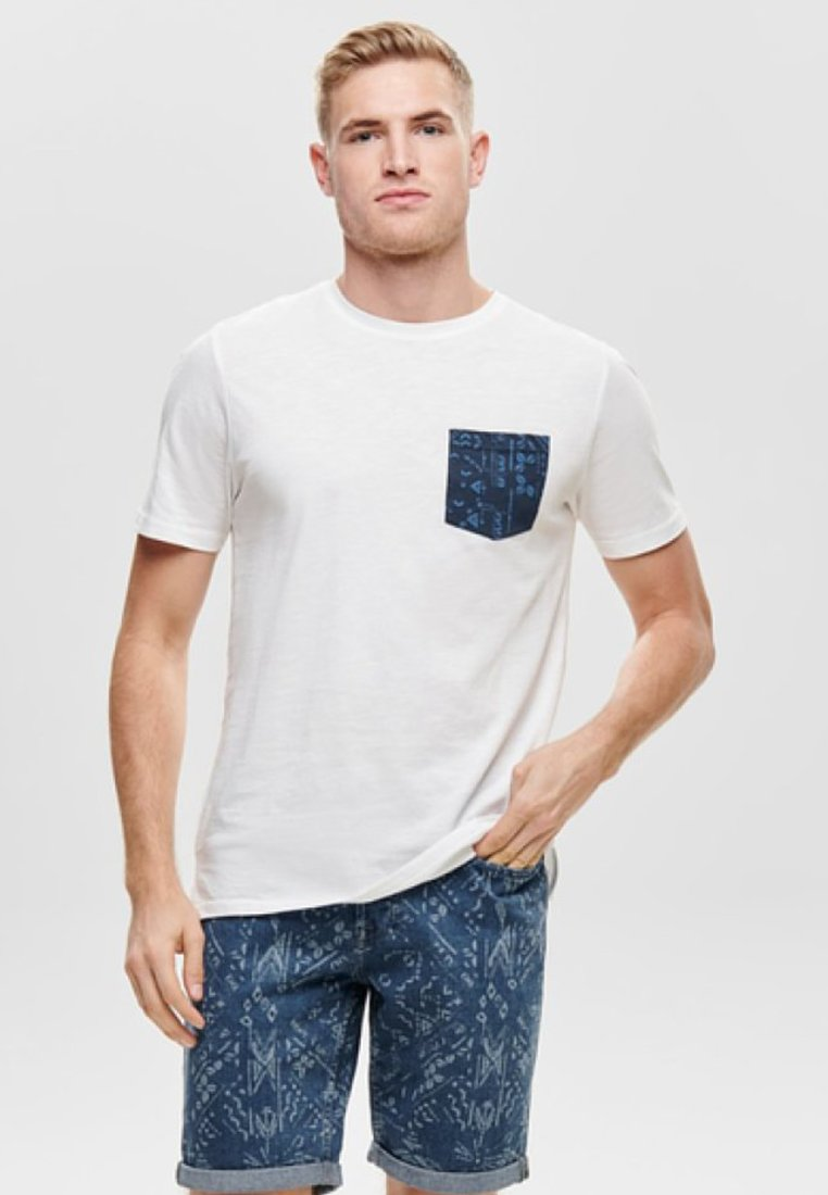 Only & Sons - T-Shirt print - off-white
