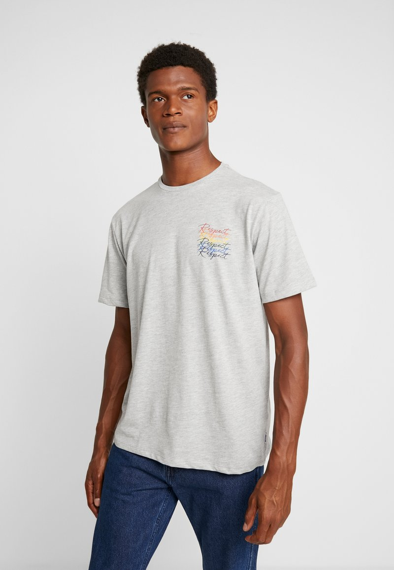Only & Sons - ONSVP TEE - Camiseta estampada - light grey melange