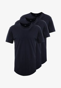 Only & Sons - ONSMATT LONGY TEE 3 PACK - T-shirts - dark navy