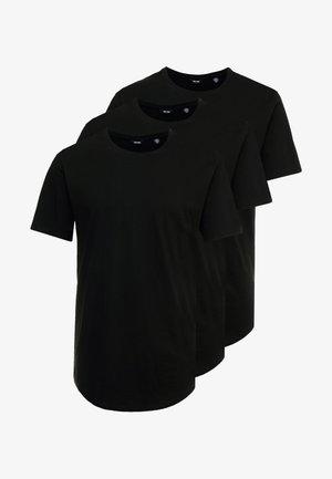 ONSMATT LONGY TEE 3 PACK - T-shirts - black