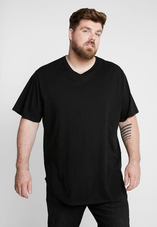ONSMATT LONGY TEE 3-PACK - T-Shirt basic - white/black/light grey melange