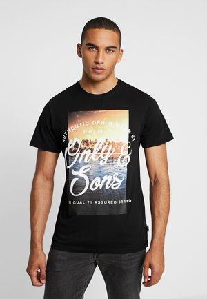 ONSBF REG SONS TEE - T-shirt imprimé - black
