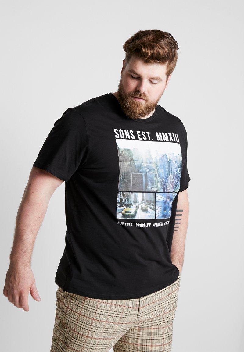 Only & Sons - ONSBUCKS FRONT TEE  - T-Shirt print - black