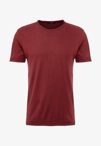 Only & Sons - ONSALBERT WASHED O-NECK - Jednoduché triko - zinfandel - 3