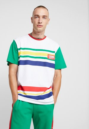 ONSCOLOR STRIPE TEE - T-shirt print - white