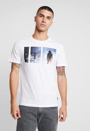 ONSBERNIE CAMP TEE - T-shirt med print - white
