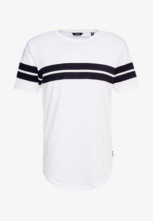 ONSBIKE LONGY TEE - T-shirt imprimé - white