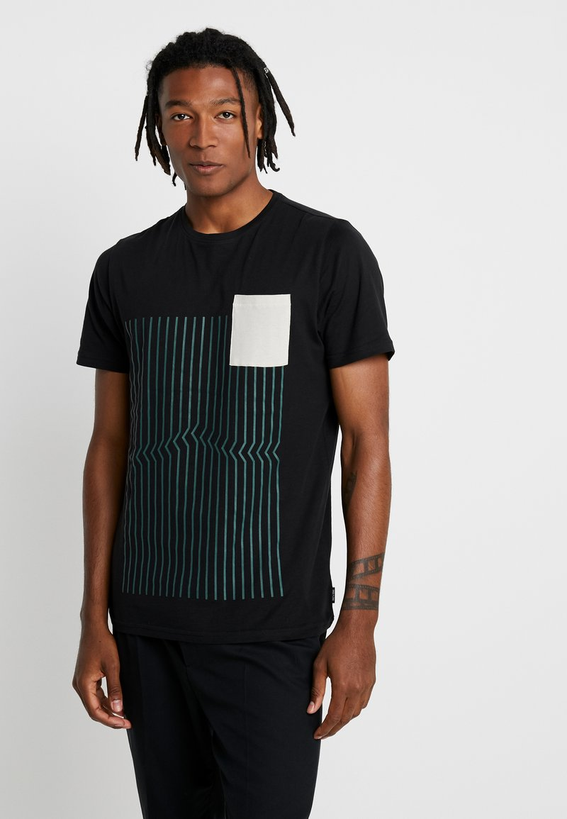 Only & Sons - ONSACE TEE - Print T-shirt - black