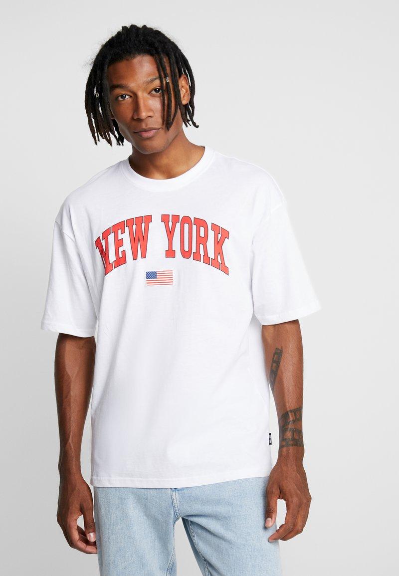 Only & Sons - ONSTIGER TEE - T-shirt z nadrukiem - white