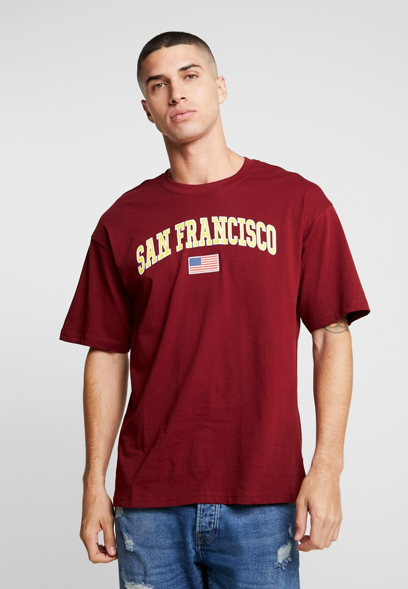 Only & Sons - ONSTIGER TEE - Print T-shirt - cabernet