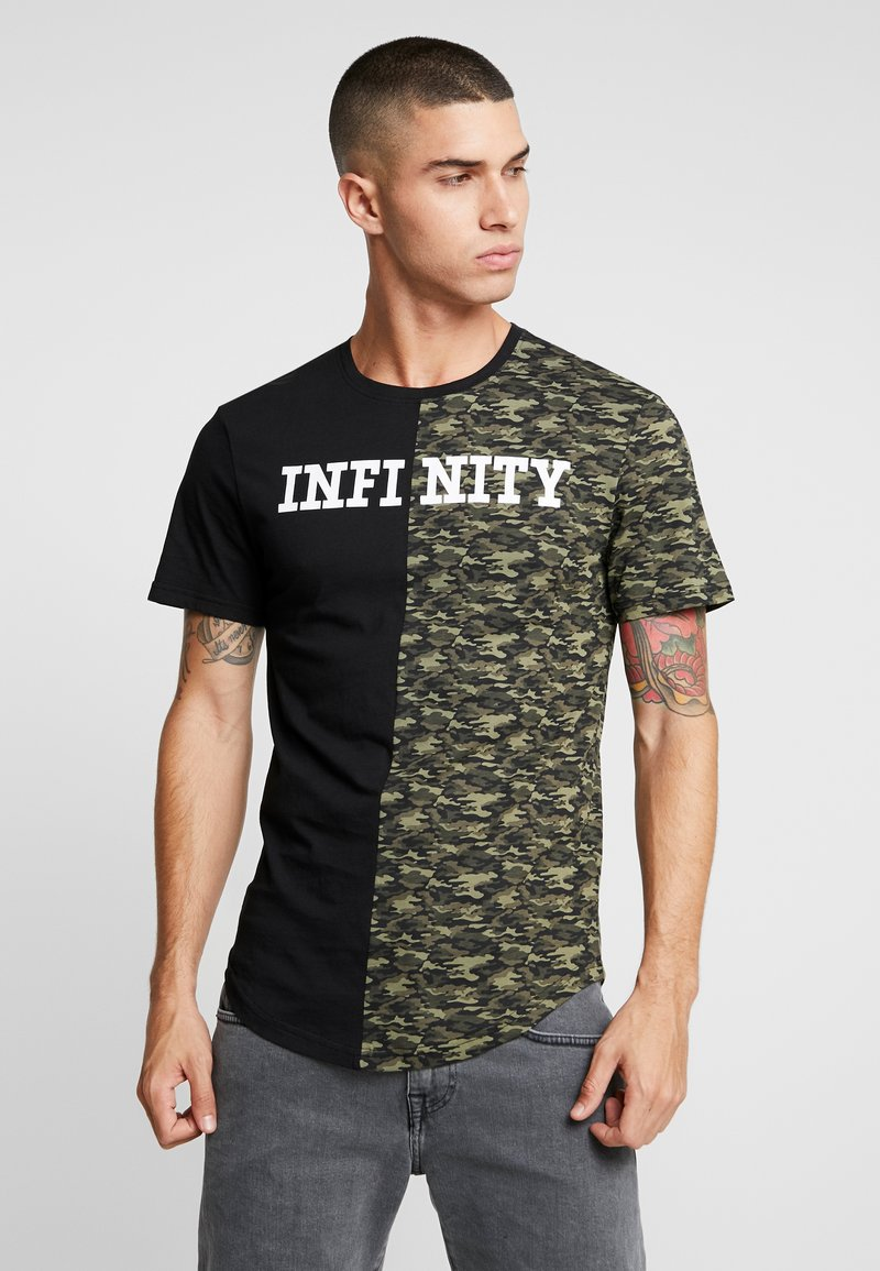 Only & Sons - ONSINFINITY LONGY TEE - T-shirts print - black