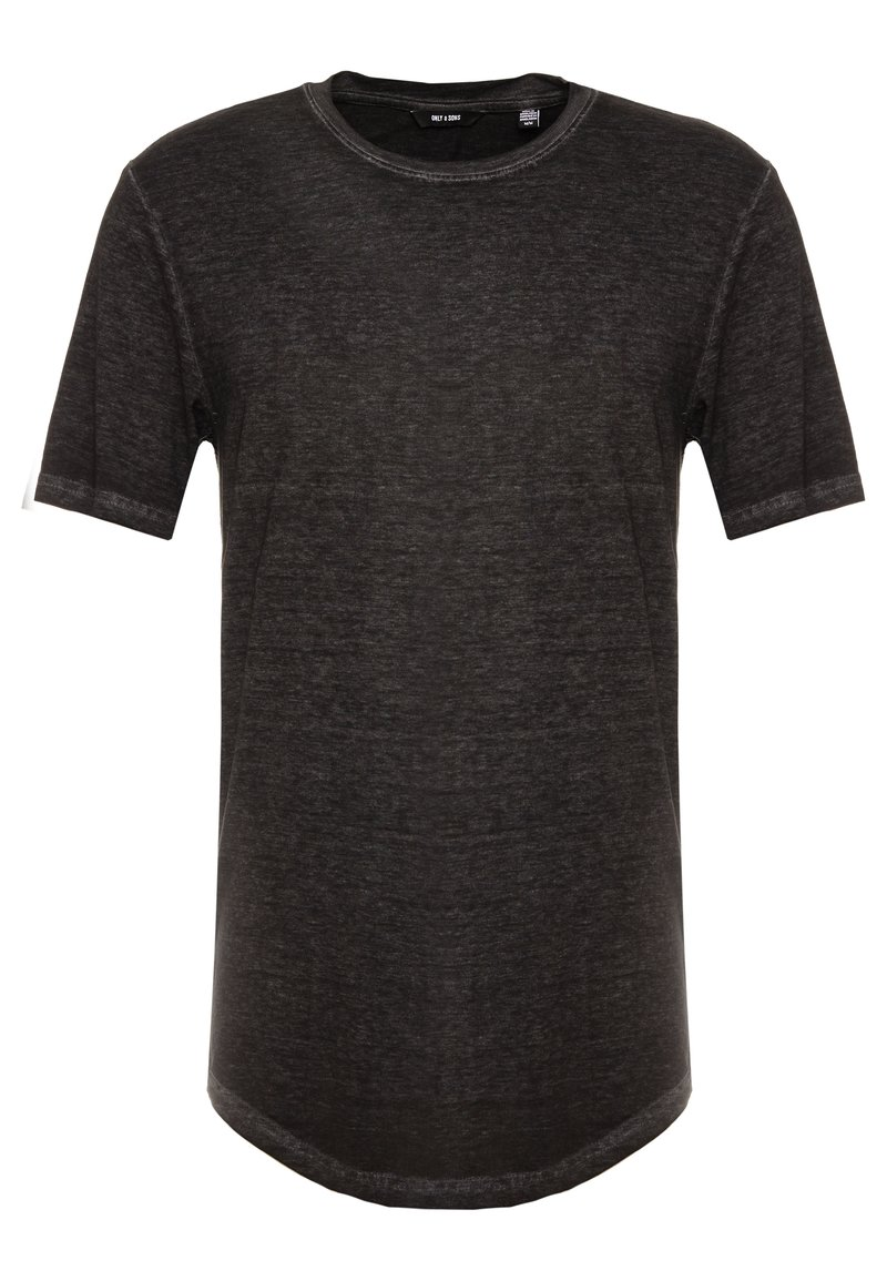 Only & Sons - ONSLONE LONGY BURNOUT TEE - Jednoduché triko - phantom