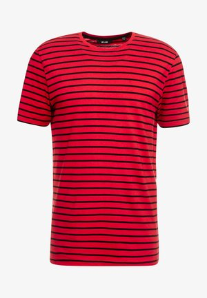 ONSBOINKA STRIPE TEE - T-shirts med print - pompeian red