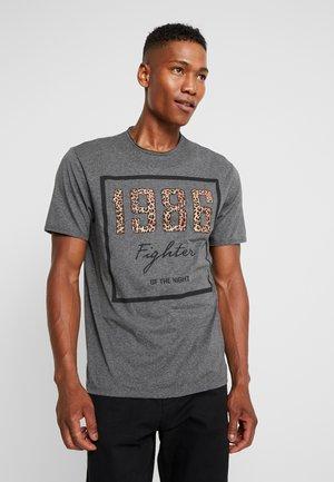 ONSFIGHTER TEE - T-Shirt print - dark grey melange