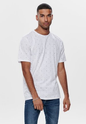 ONSBOAZ TEE - T-shirt con stampa - white