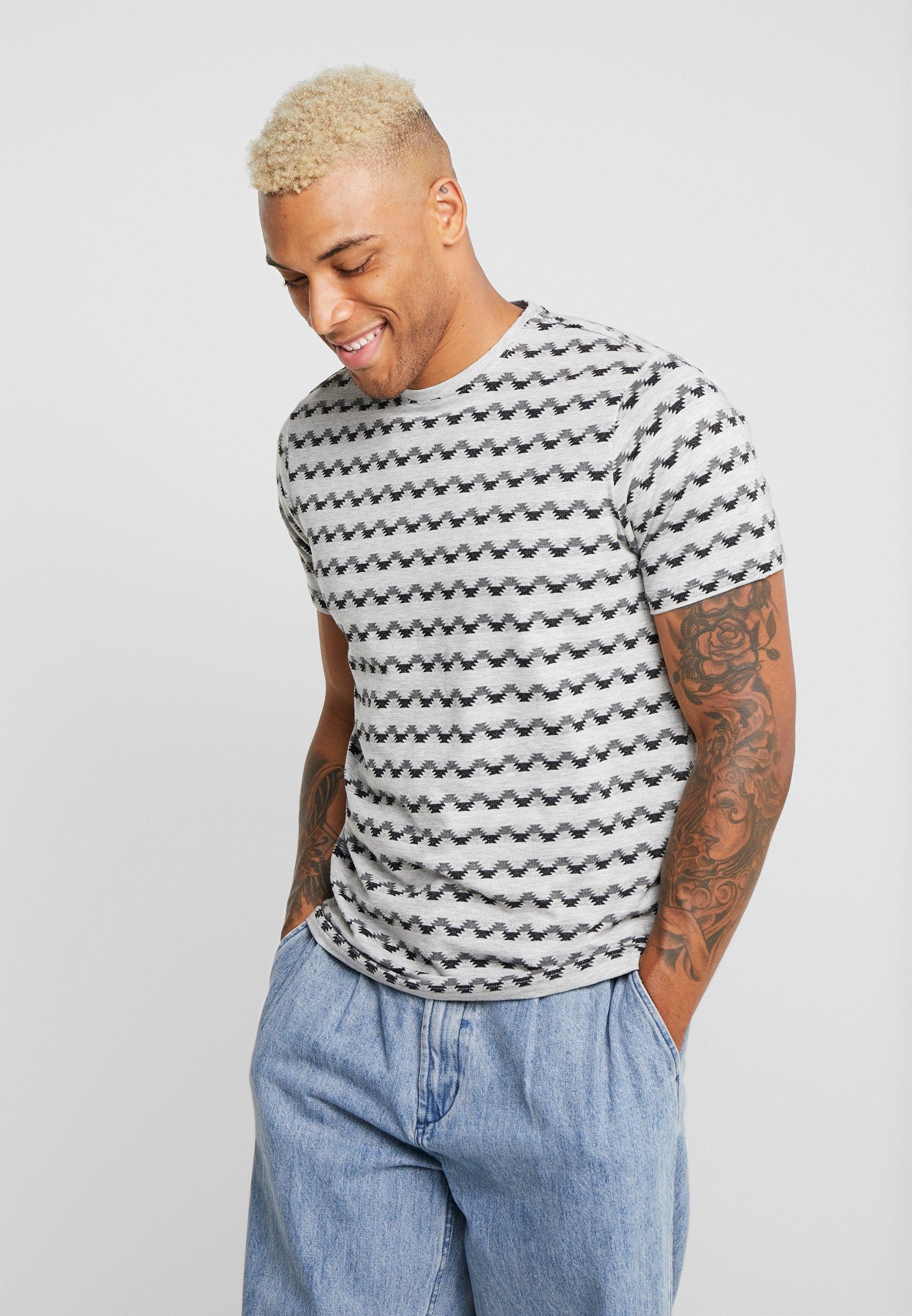 Only & Sons ONSMAXWELL TEE REGULAR FIT - T-shirt z nadrukiem - light grey melange