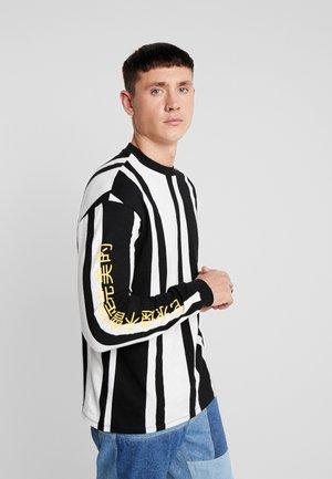 ONSCHEN STRIPE TEE - Maglietta a manica lunga - black