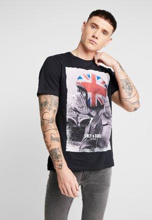ONSMODALU TEE - T-Shirt print - black